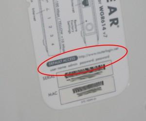 Zugangsdaten auf einem Netgear-Router